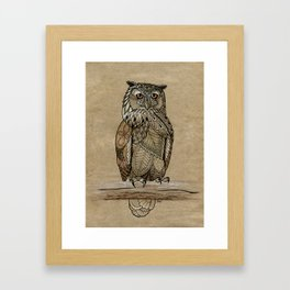 Paper Bag Owl Framed Art Print