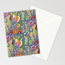 Hula Half Drop Stationery Cards