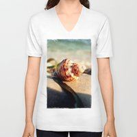 seashell V-neck T-shirts featuring seashell by Vivian Fortunato
