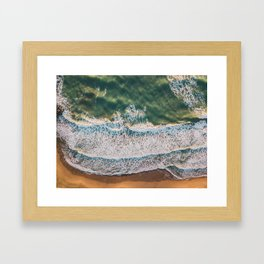 Golden waves, 2018 Framed Art Print