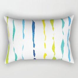 Colourful Watercolour Brushstrokes Rectangular Pillow