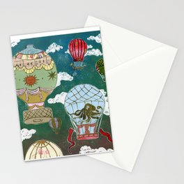 Hot Air Balloons I Stationery Cards