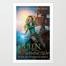 Queen of Shining Sea Book Cover Art Print