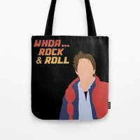 marty mcfly Tote Bags featuring Marty McFly by Christina