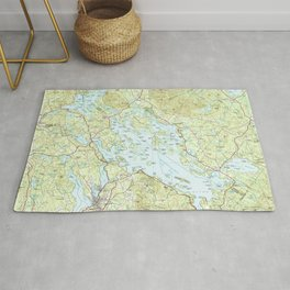Lake Winnipesaukee Map (1986) Rug
