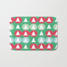Christmas pattern green Bath Mat