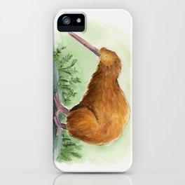 Kiwi - NZ bird watercolor iPhone Case