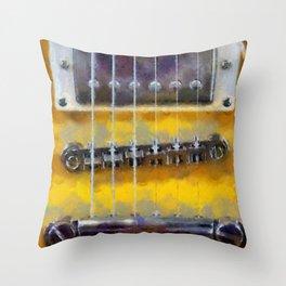 Guitar No. 5 Throw Pillow