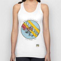 aviation Tank Tops featuring Wilbur and Orville Wright, 1903 by Magnetic Boys