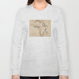 Vintage Map of Africa (1831) Long Sleeve T-shirt