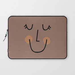 Winky Smiley Face in Brown Laptop Sleeve