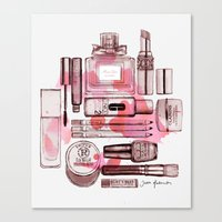 make up Canvas Prints featuring Make up by Illustra