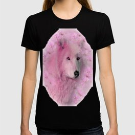PINK WOLF FLOWER SPARKLE T-shirt