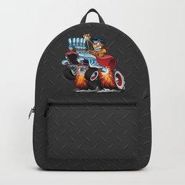 Highboy Hot Rod Race Car Cartoon Backpack