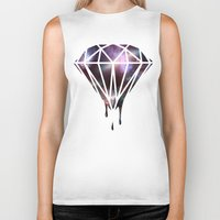 diamond Biker Tanks featuring Diamond by jeff'walker