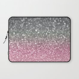 Gray and Light Pink Laptop Sleeve