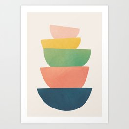 Stacked Pots Art Print