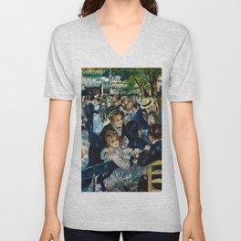 Auguste Renoir - Dance At Le Moulin De La Galette Unisex V-Neck