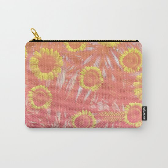 Sunflower Party #4 Carry-All Pouch