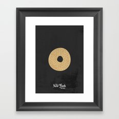 This is New York for me. Bagel Framed Art Print