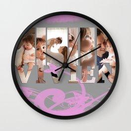 Name Art Wall Clock