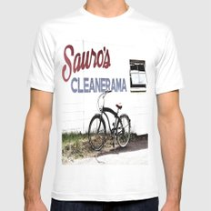 Cleanerama MEDIUM White Mens Fitted Tee