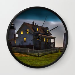 The Lights are on at Pemaquid Wall Clock