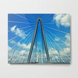 Cooper River Bridge Renewed Metal Print