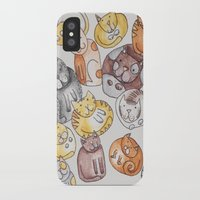 a lot of cats iPhone & iPod Cases featuring Lot of cats by Billie La Roche