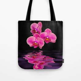 Mystical Pink Orchids Reflections Tote Bag
