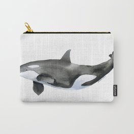 Orca Killer Whale Watercolor Carry-All Pouch