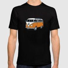VW Campervan Mens Fitted Tee Black 2X-LARGE
