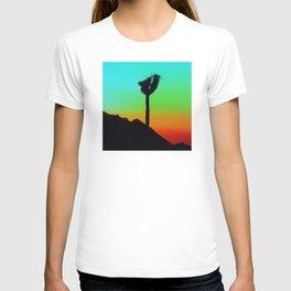 Lone Joshua Tree in Desert Sunset T-shirt