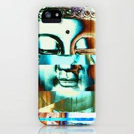 Glitch Buddha #3 iPhone Case