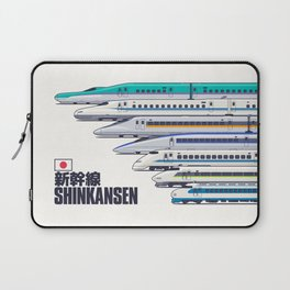 Shinkansen Bullet Train Evolution - White Laptop Sleeve
