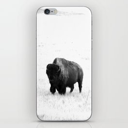 A Bison - Monochrome iPhone Skin