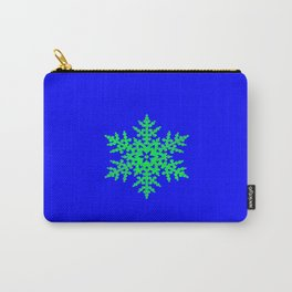 Snowflake in Blue Field, Gift Carry-All Pouch