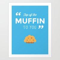seinfeld Art Prints featuring Seinfeld - Muffin by Daniel Mester