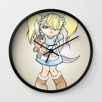 grumpy Wall Clocks featuring Grumpy by Cloz000