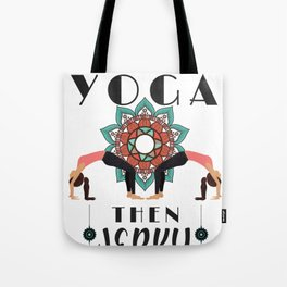 Yoga Lover First Yoga Then Jerky Tote Bag