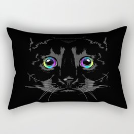 Black cute cat Rectangular Pillow