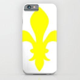Fleur de Lis (Yellow & White) iPhone Case