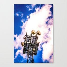 Radio Tower Cloudy Sky bright Canvas Print