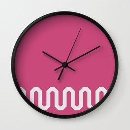 PINK Mosaic Wall Clock