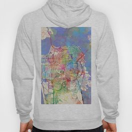 San Francisco City Street Map Hoody
