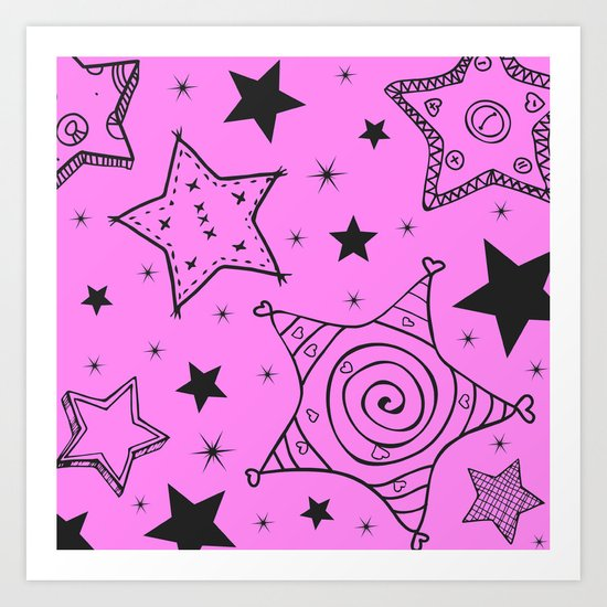 Stars are AMAZING in pink too Art Print