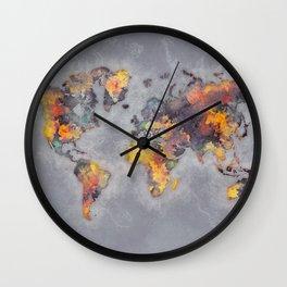 world map 111 #worldmap #world #map Wall Clock