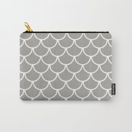 Grey Fish Scales Pattern Carry-All Pouch