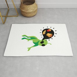 Alien Pizza Ufo Alien Spaceship Space Rug