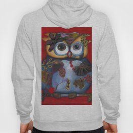 Bohemian Owl and Moon Painting by Kimberly Schulz Hoody